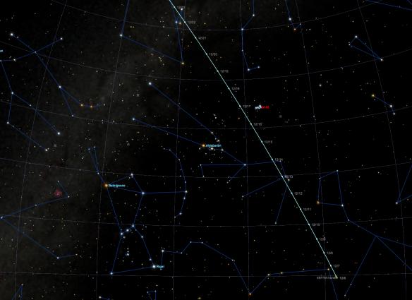 Comet 46P/Wirtanen throughout December 2018.